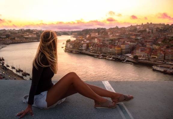 Porto Portugal sunset