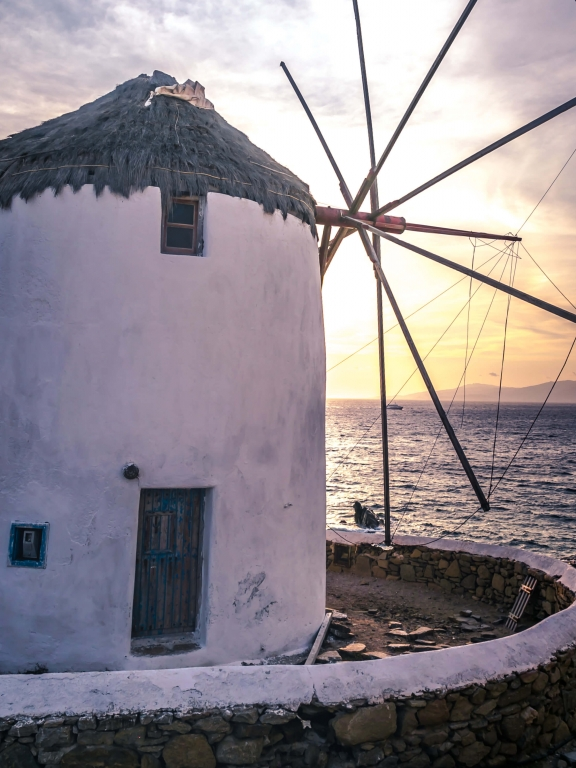 mykonos greece windmill