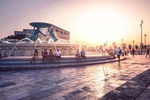 MALTA_Valletta-fountain